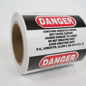 Asbestos Caution Labe 500per Roll