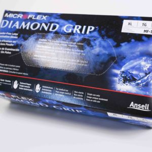 Glove Latex- Diamond Grip Powder Free 100/bx
